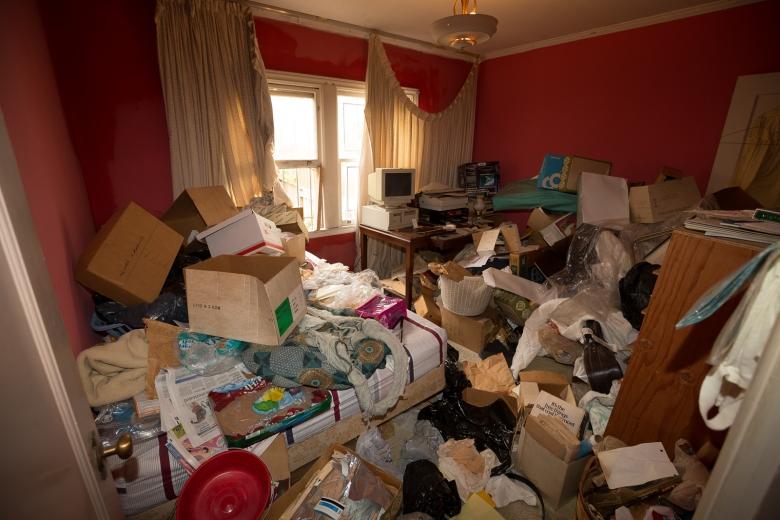 Hoarders living room